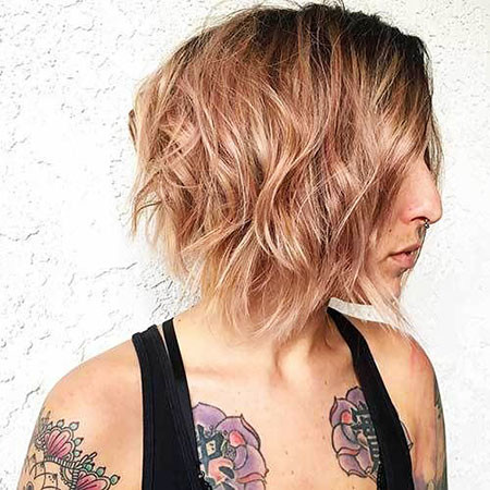 11-Short-Rose-Colored-Hair-697 Short Choppy Haircuts