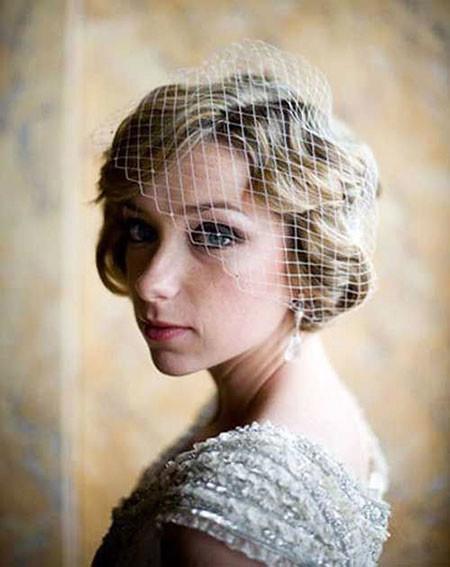 17-Bridal-Hairtyles-for-Short-Hair-607 Bridal Hairstyles for Short Haircut