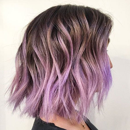 19-Purple-Ombre-Short-Hair-494 Short Ombre Hairstyles