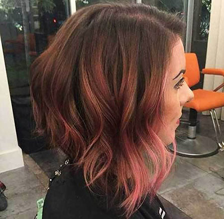35-Rose-Brown-Short-Hair-510 Short Ombre Hairstyles