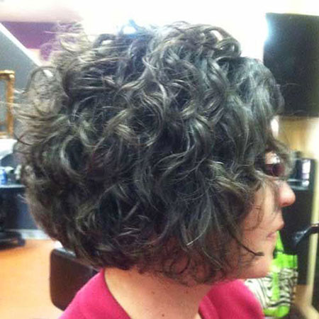 7-Curly-Short-A-Line-Grey-Hair-643 Short Haircuts for Wavy Thick Hair