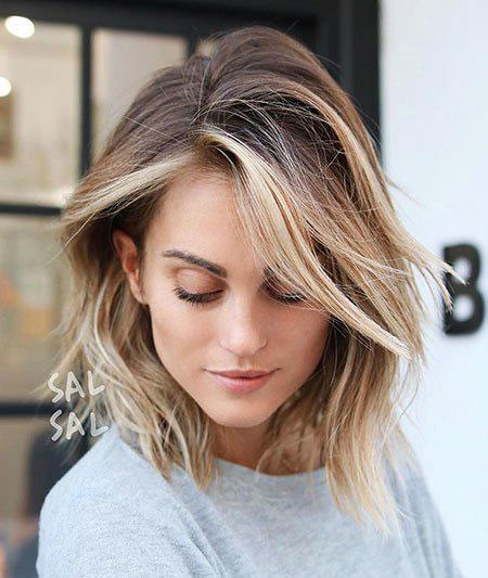 8-Bob-with-Blonde-Balayage-558 Short Hairstyles for Women