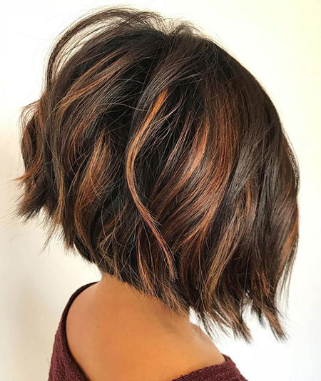 9-Layered-Bob-Haircuts-for-Thick-Hair-645 Short Haircuts for Wavy Thick Hair