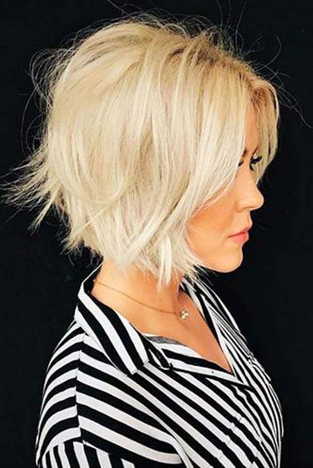 Blonde-Casual-Hairstyle Short Hairstyles for Women