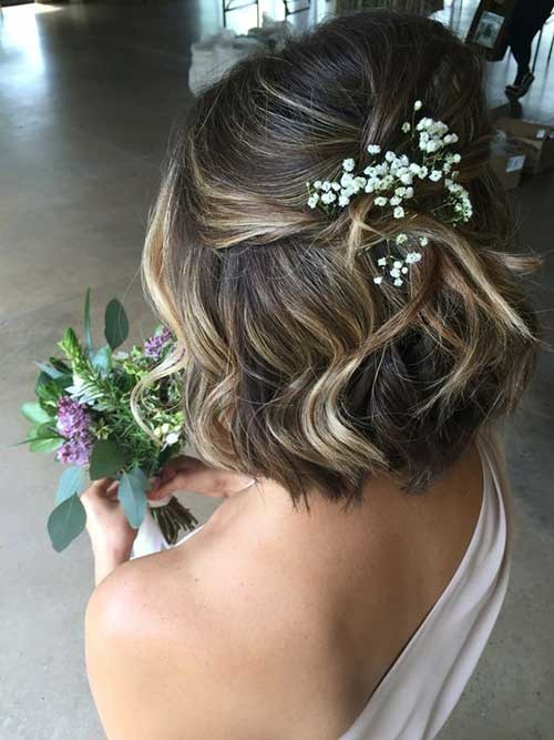 Cute-Short-Hairstyle-for-Wedding Most Beautiful Short Hairstyles for Weddings
