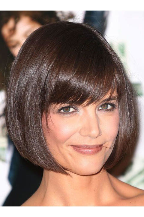 French-Style-Inverted-Bob-Hairstyle Short Bob Hairstyles for Black Women