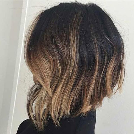 Inverted-Bob-with-Ombre Best Bob Hairstyles for Women 2019