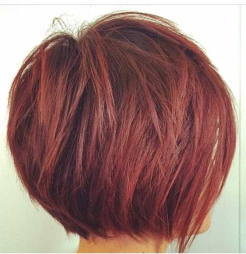 Layered-Hair-1 Really Trending Short Stacked Bob Ideas