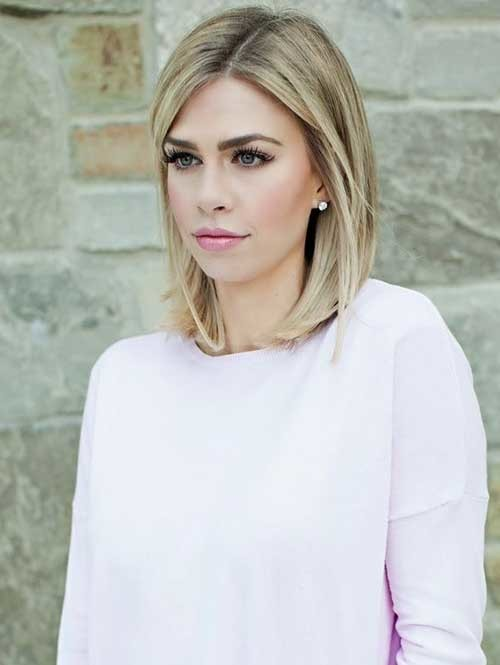 Medium-to-Short-Blonde-Haircut Short Medium Length Haircuts