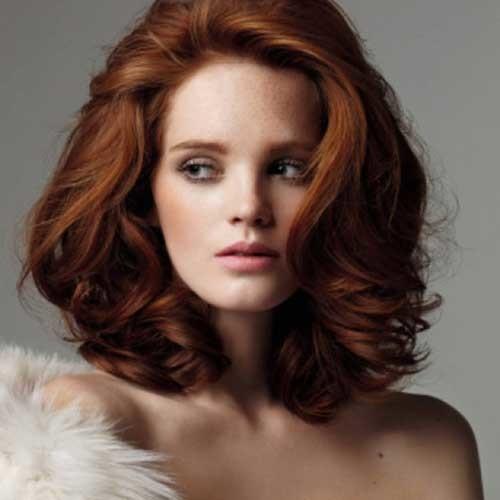 Short-Red-Medium-Length-Nice-Haircut Short Medium Length Haircuts