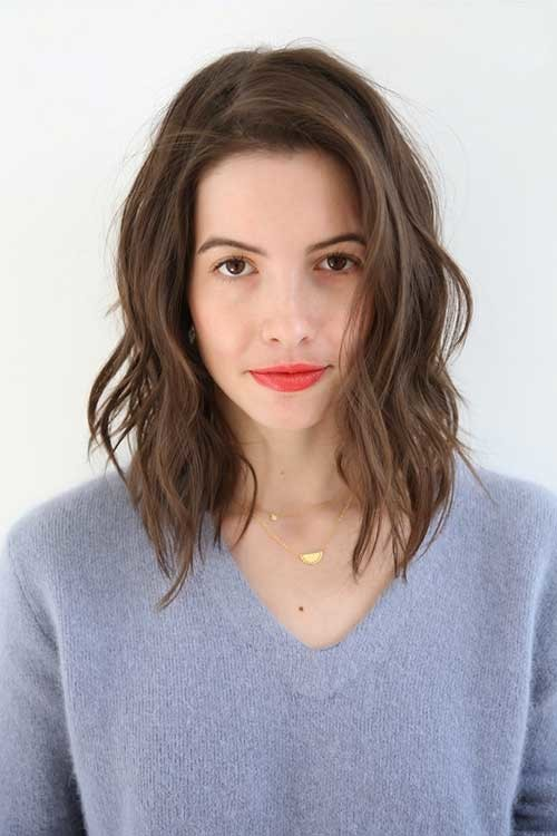 Short-to-Medium-Haircut-with-Waves Short Medium Length Haircuts