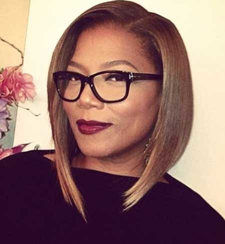 Sleek-and-Edgy-Side-Swept-Asyemmetrical-Hairstyle Short Bob Hairstyles for Black Women