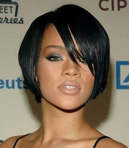 Straight-and-Edgy-Bob-Hairdo-for-Women Short Bob Hairstyles for Black Women