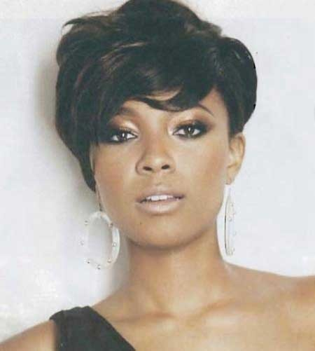 Wavy-Very-Short-Bob-Hairstyle-for-Black-Women Short Bob Hairstyles for Black Women