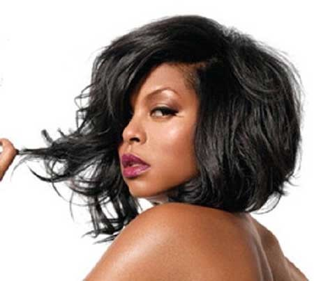 Weave-Bob-Hairstyle-for-Black-Women Short Bob Hairstyles for Black Women