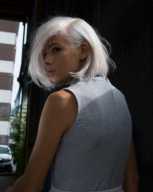 White-Hair Best Short Hairstyles for Girls 2019