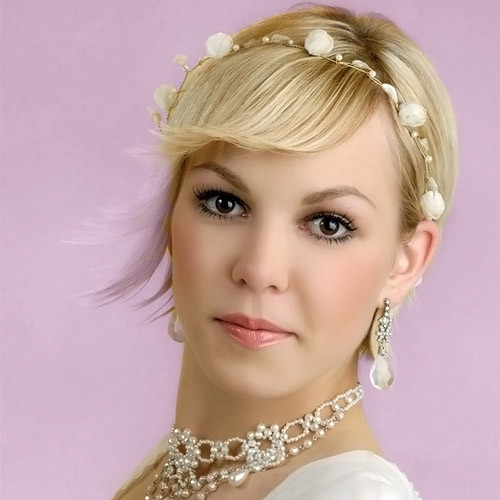 wedding-short-hair-ideas Best Wedding Hairstyles for Short Hair