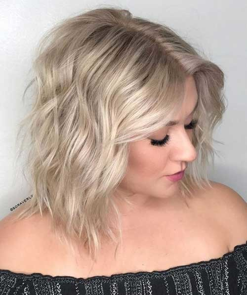 Beach-Waves-Bob-Hair-Style Chic Blonde Bob Hairstyles for Women