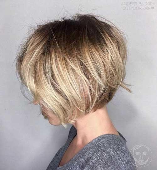 Blonde-Balayage Best Short Bob Haircuts for Women
