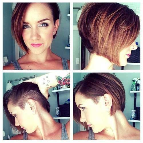 Bob-with-Undercut-Sides Latest Short Hairstyles with Fine Hair