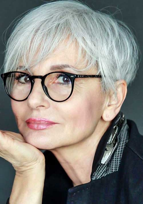 Casual-Pixie Classy Pixie Haircuts for Older Women