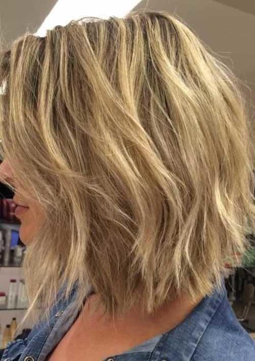 Choppy-Hair Chic Blonde Bob Hairstyles for Women