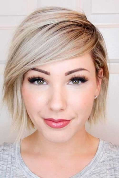 Cute-Haircut-for-Round-Faces 2018 Latest Layered Short Haircuts for Round Faces