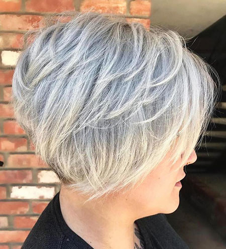 Layered-Blonde-Pixie-Bob Short Layered Haircuts