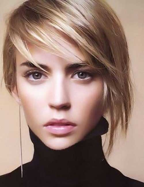 Layered-Bob-Hair 2018 Latest Layered Short Haircuts for Round Faces