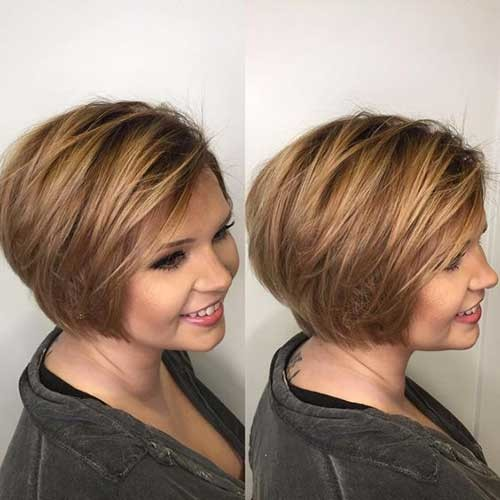 Layered-Hair-for-Round-Faces 2018 Latest Layered Short Haircuts for Round Faces