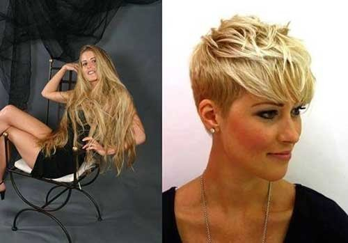 Layered-Pixie Before and After Pics of Short Haircuts