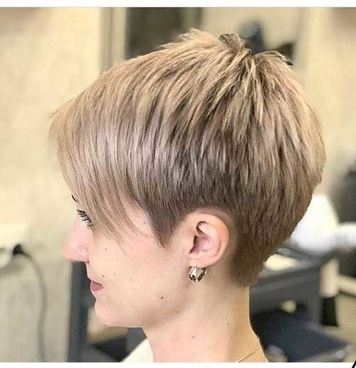 Layered-Short-Pixie Latest Short Hairstyles with Fine Hair
