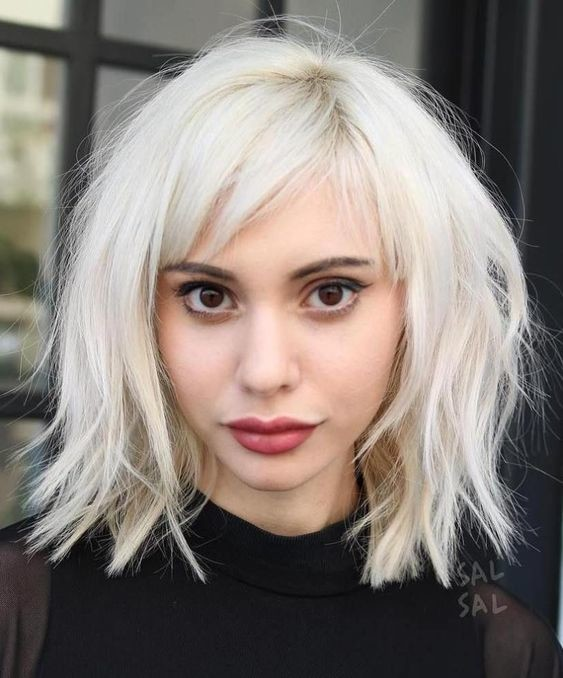 Long-Choppy-Bob-with-Bangs-www.sexvcl.net-001 Bob Hairstyles for 2018