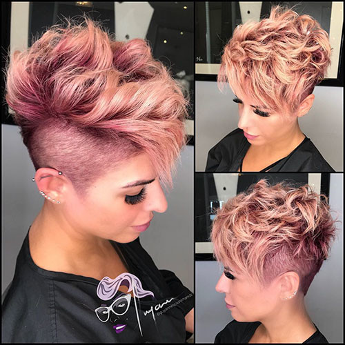 Pink-Pixie-Hair Best Short Pixie Hairstyles 2018