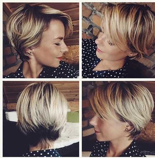 Pixie-Bob-Cut-Beige Best Short Bob Haircuts for Women
