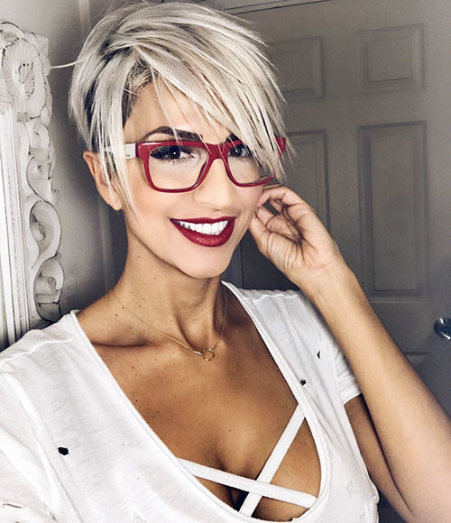Pixie-Cut-Long-Bangs Best Short Pixie Hairstyles 2018