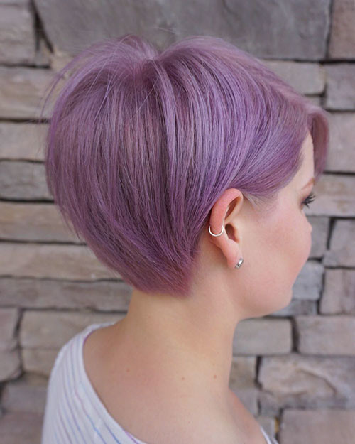 Pretty-Color Best Short Pixie Hairstyles 2018