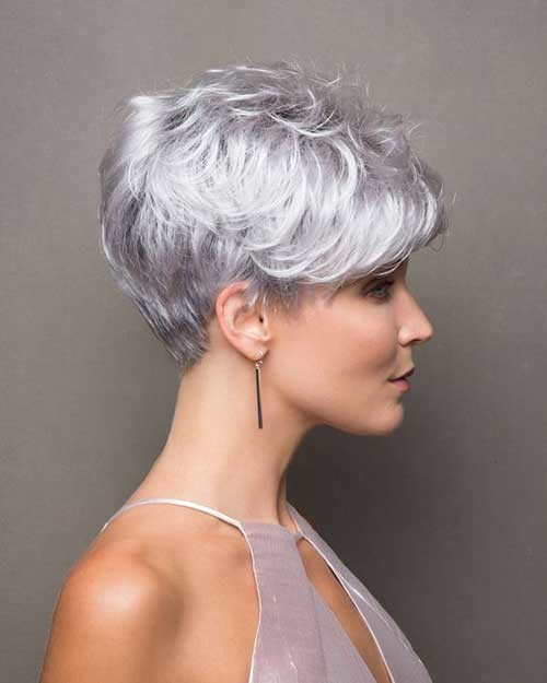 Stacked-Layers Classy Pixie Haircuts for Older Women