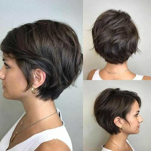Thin-Short-Hair-2018 Best Short Bob Haircuts for Women