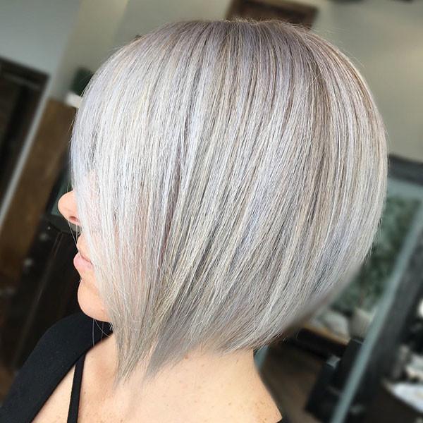 Ash-Blonde-Short-Straight-Hair Short Straight Hairstyles 2019