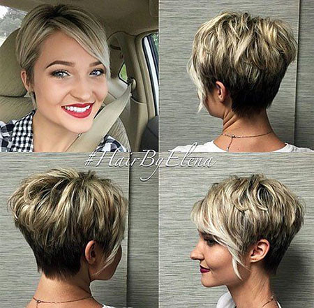 Asymmetrical-Pixie-with-Bangs Hair Color Ideas for Short Haircuts