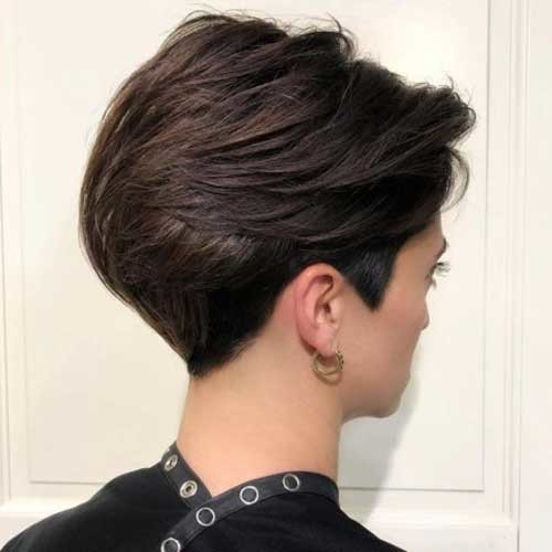 Back-View Charming Stacked Short Haircuts for Women