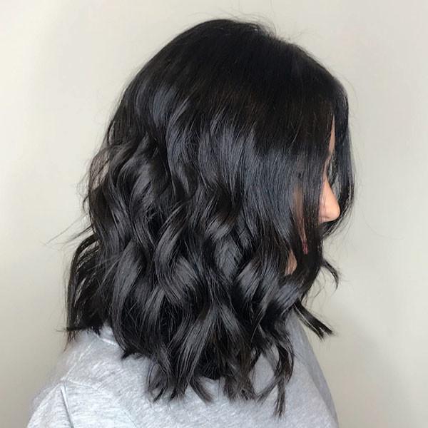 Black-Hair Popular Short Wavy Hairstyles 2019