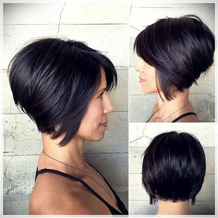 Black-Inverted-Bob Short Inverted Bob Hairstyles