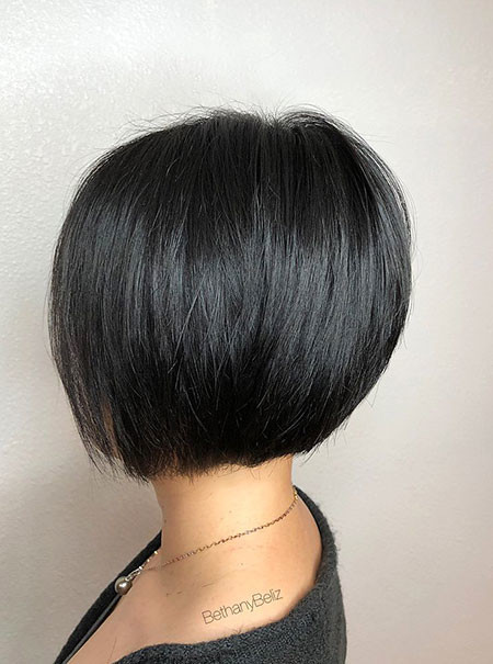 Black-Short-Bob Short Bob Haircuts 2019
