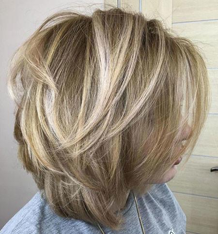 Blonde-Balayage-Bob-Hairstyle Popular Short Haircuts 2018 – 2019