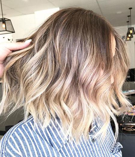 Blonde-Balayage-Short-Hair Popular Short Haircuts 2018 – 2019