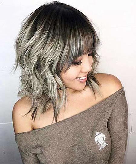 Blonde-Gray-Bob Trendy Short Hairstyles 2019
