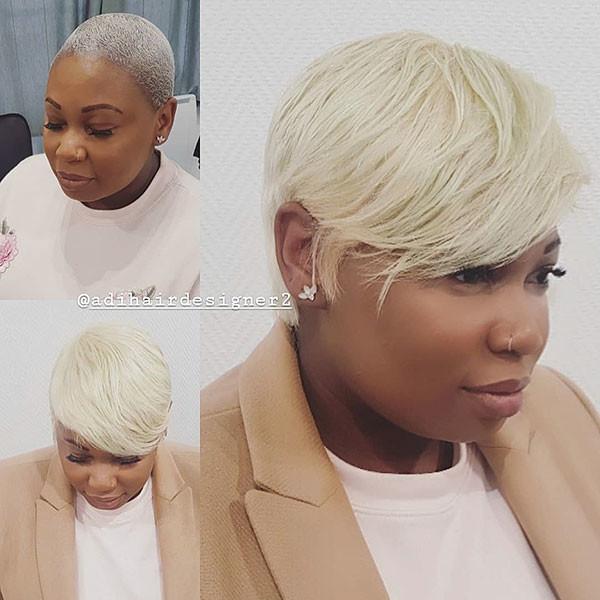 Blonde-Pixie-Hair-1 Short Haircuts for Black Women 2019