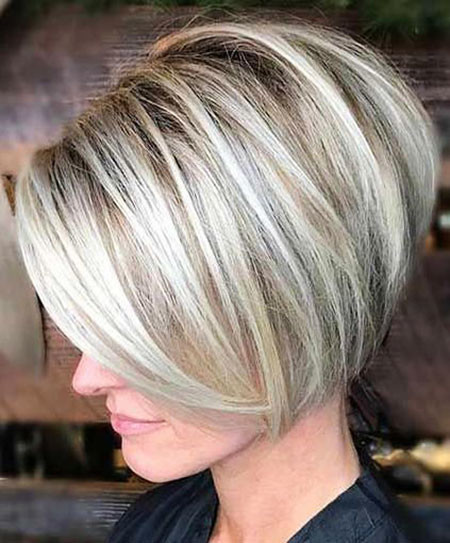 Blonde-Short-Bob-Haircut Short Bob Haircuts 2019